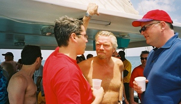 Richard Branson and Nathan Philpot of The Cruise Checker